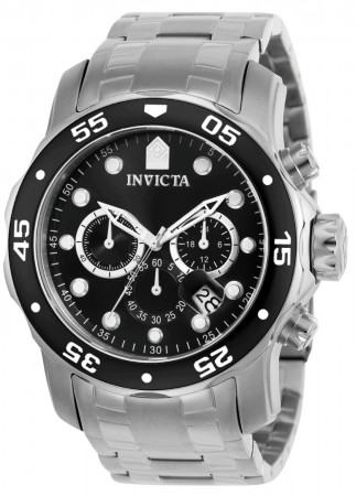Invicta Men's Pro Diver Scuba Stainless Steel Stainless Steel Band Quartz Watch