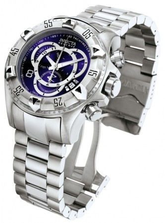 Men's Excursion Reserve Blue Dial Stainless Steel Stainless Steel Band Quartz Watch