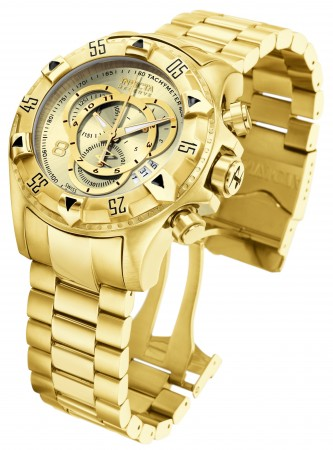 Men's Excursion Reserve Gold Dial Gold Stainless Steel Band Quartz Watch