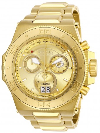Men's Akula Reserve Gold Dial Gold Stainless Steel Band Quartz Watch