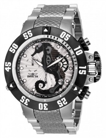 Men's Subaqua 3 Silver/Black Dial Stainless Steel Stainless Steel Band Quartz Watch