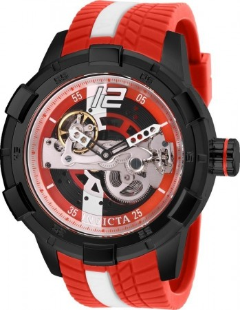 Men's S1 Rally Red Dial Red Silicon Band Automatic Watch