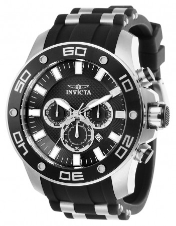 Men's Pro Diver Black Dial Black, Stainless Steel Polyurethane, Stainless Steel Band Quartz Watch