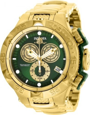 Men's Subaqua Noma V Green Dial Gold Stainless Steel Band Quartz Watch