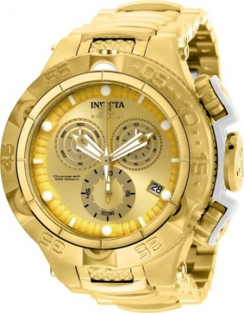 Men's Subaqua Noma V Gold Dial Gold Stainless Steel Band Quartz Watch