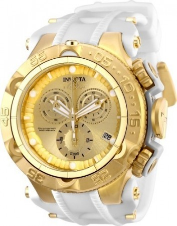 Men's Subaqua Noma V Gold Dial White/Gld Ins Polyurethane/Stainless Steel Band Quartz Watch