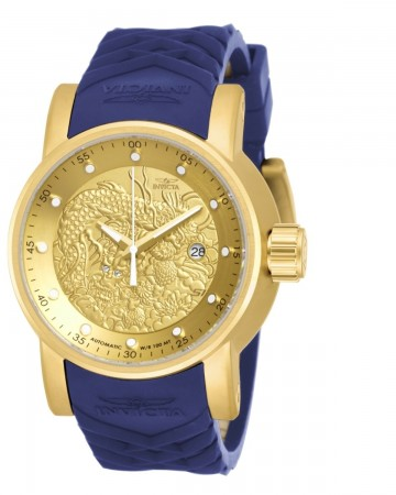 Men's S1 Rally Gold Dial Blue Polyurethane Band Automatic Watch