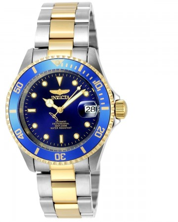 Men's Pro Diver Blue Dial Gold/Stainless Steel Stainless Steel Band Automatic Watch