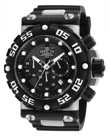 Men's Subaqua Black Dial Black/Stainless Steel Stainless Steel Band Quartz Watch