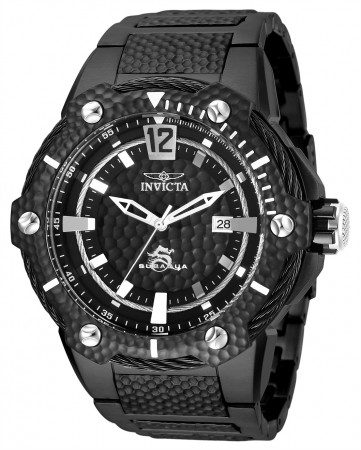 Men's Subaqua Black Dial Black Stainless Steel Band Automatic Watch