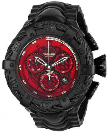 Men's Jt Red Dial Black Stainless Steel Band Quartz Watch