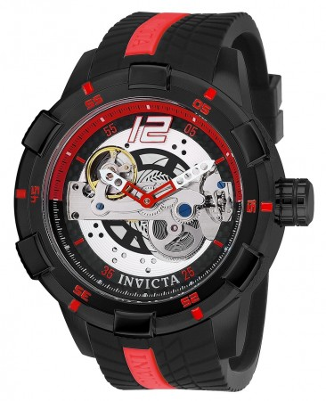 Men's S1 Rally Race Team Black Dial Black/Red Silicon Band Quartz Watch