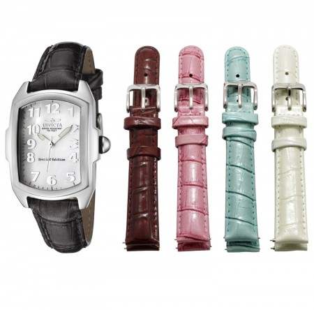 Women's Lupah Baby Mother Of Pearl Dial Multi Leather Band Quartz Watch