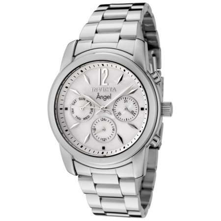 Women's Angel Mother Of Pearl Dial Stainless Steel Band Quartz Watch