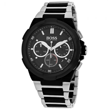 Men's Classic Black Dial Gun Metal Stainless Steel Band Quartz Watch