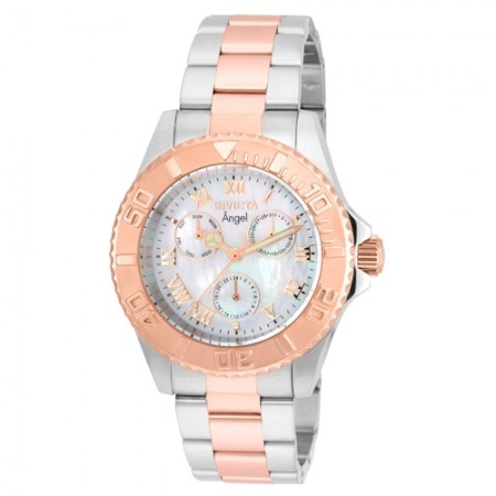Women's Angel Silver Dial Rose Gold Tone, Stainless Steel Stainless Steel Band Quartz Watch