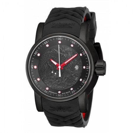 Men's S1 Rally Black Dial Black Polyurethane Band Automatic Watch