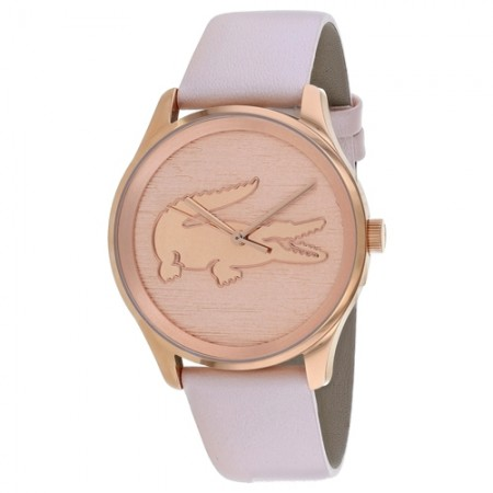 Women's Victoria Pink Dial Pink Leather Band Quartz Watch