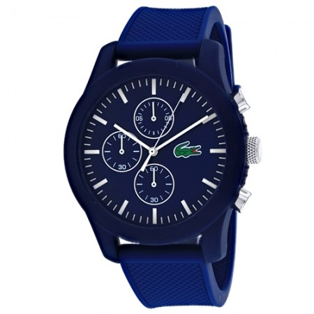 Men's Classic Blue Dial Blue Rubber Band Quartz Watch