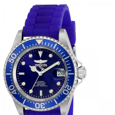 Men's Pro Diver Blue Dial Blue Silicon Band Automatic Watch