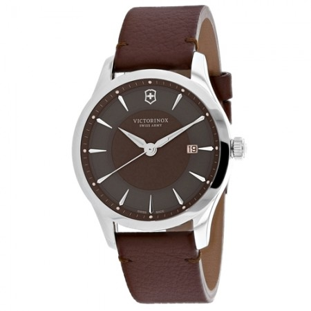Men's Alliance Brown Dial Brown Leather Band Quartz Watch