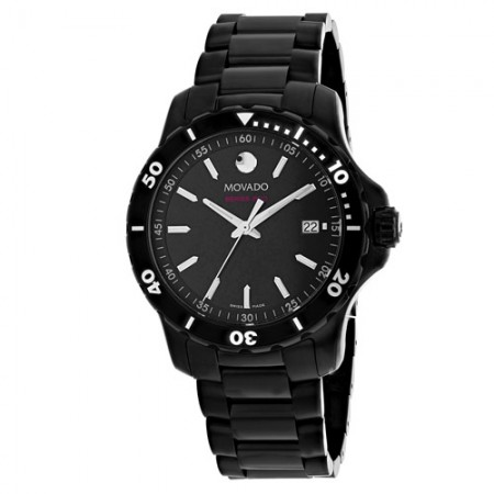 Men's Series 800 Black Dial Black Stainless Steel Band Quartz Watch