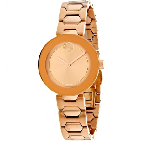 Women's Bold Rose Gold Tone Dial Rose Gold Tone Stainless Steel Band Quartz Watch