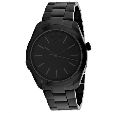 Men's Bold Motion Black Dial Black Stainless Steel Band Quartz Watch