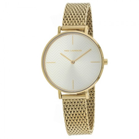 Women's Classic Gold-Tone Dial Gold-Tone Mesh Band Quartz Watch
