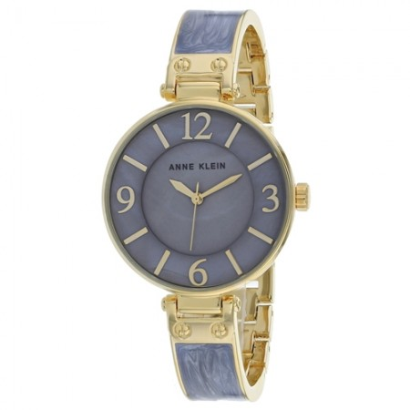 Women's Classic Mother of Pearl Dial Grey Stainless Steel Band Quartz Watch