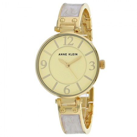 Women's Classic Yellow Dial Grey Stainless Steel Band Quartz Watch