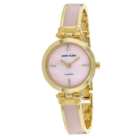 Women's Classic Pink Dial Pink Stainless Steel Band Quartz Watch