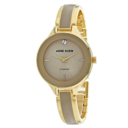 Women's Classic Brown Dial Gold-Tone Stainless Steel Band Quartz Watch