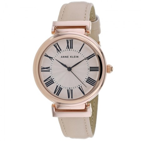Women's Classic Rose Gold-Tone Dial Pink Leather Band Quartz Watch