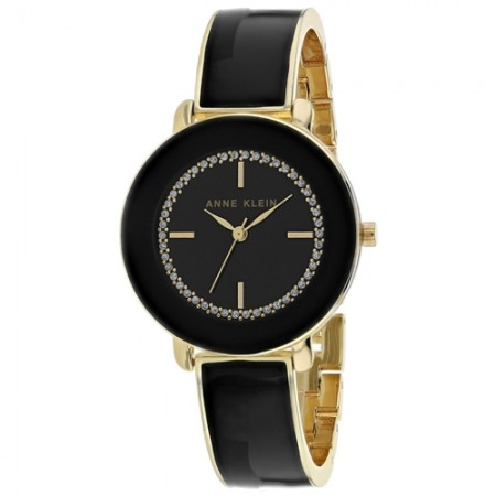 Women's Classic Black Dial Black Stainless Steel Band Quartz Watch