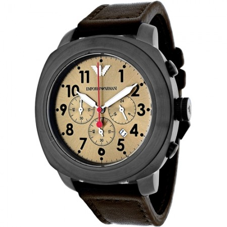 Men's Sportivo Brown Dial Brown Leather Band Quartz Watch