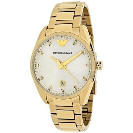 Women's Classic Champagne Dial Gold-Tone Stainless Steel Band Quartz Watch