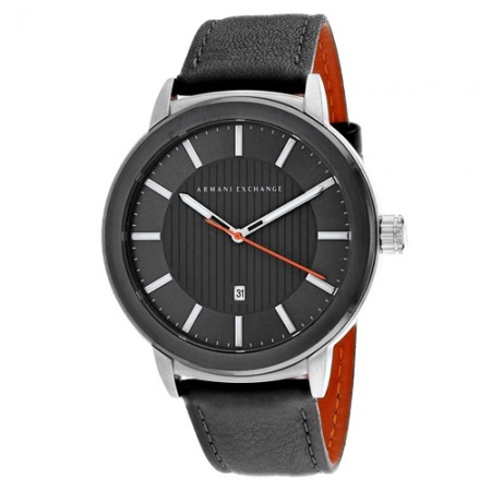 Men's Classic Grey Dial Grey Stainless Steel Band Quartz Watch