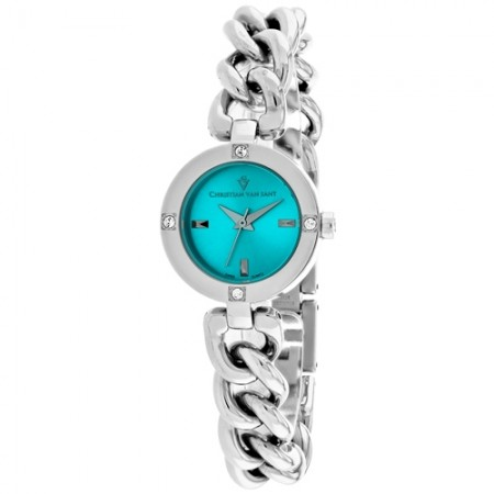 Women's Sultry Blue Dial Gun Metal Stainless Steel Band Swiss parts Quartz Watch
