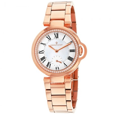 Women's Cybele White Dial Rose Gold-Tone Stainless Steel Band Quartz Watch