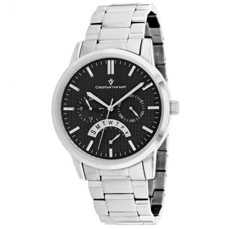 Men's Alden Black Dial Gun Metal Stainless Steel Band Quartz Watch