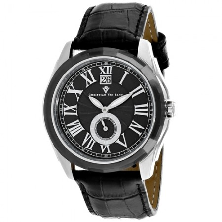 Men's Gravity Black Dial Black Stainless Steel Band Quartz Watch
