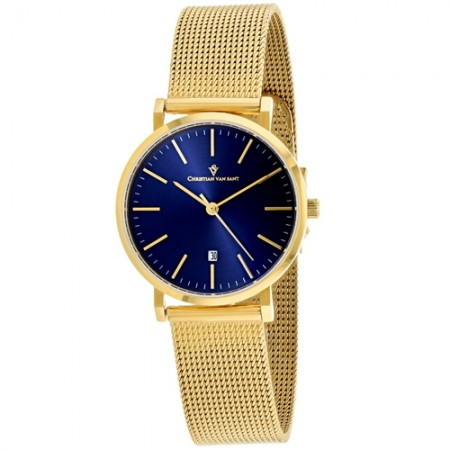 Women's Paradigm Blue Dial Gold-Tone Stainless Steel Band Quartz Watch
