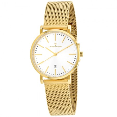 Women's Paradigm Gun Metal Dial Gold-Tone Stainless Steel Band Quartz Watch