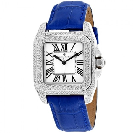 Women's Radieuse White Dial Blue Stainless Steel Case Back Band Quartz Watch