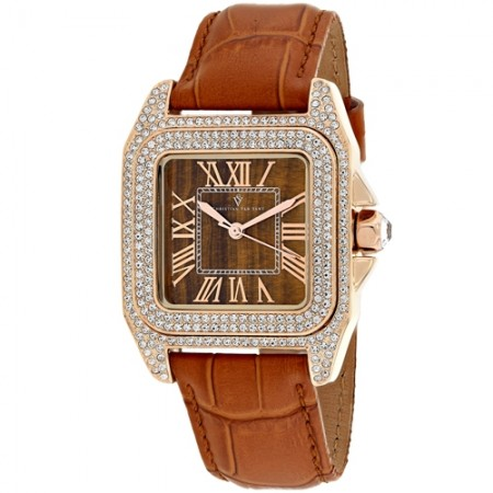 Women's Radieuse Yellow Dial Brown Stainless Steel Case Back Band Quartz Watch