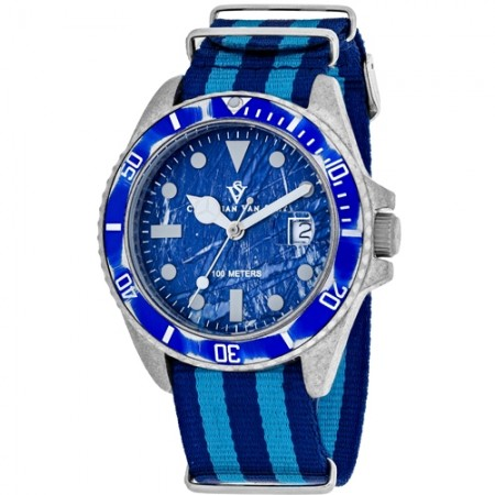 Men's Montego Vintage Blue Dial Blue Nylon Band Quartz Watch