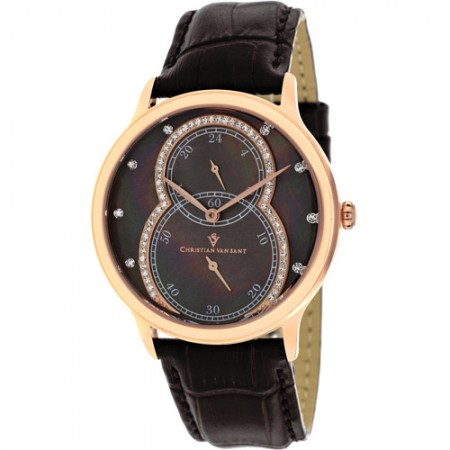 Women's Infinie Brown Dial Brown Leather Band Quartz Watch