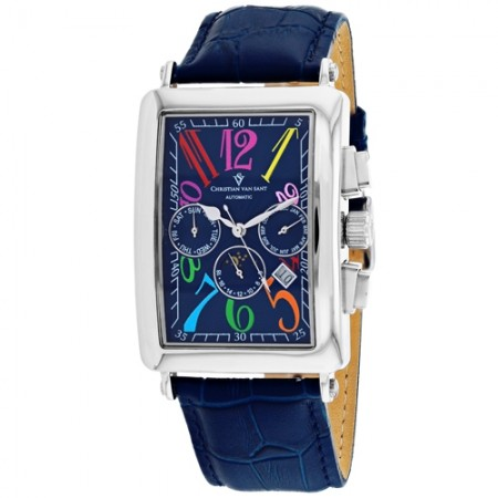 Men's Prodigy Blue Dial Blue Leather Band Automatic Watch