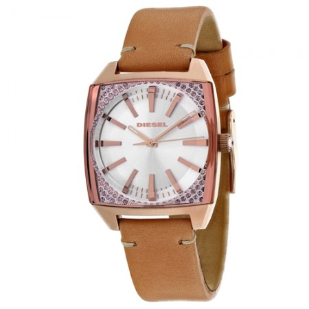 Women's Becky Gun Metal Dial Brown Leather Band Quartz Watch